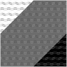 The illusion appears to have zig-zags but it is in fact just wavy lines