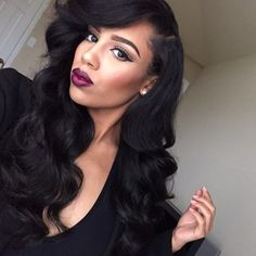 High qualtiy top grade Factory price for sale!!! Best service 100% virgin human hair wigs/hair extensions/lace closure/clip in hair/skin weft and synthetic hair wigs,brazilian ,indian ,malaysian ,peruvian and chinese hair. Web:http://www.aliexpress.com/store/1817385 Whats App:+8615092180850 Email:melissali0805@yahoo.com Loose Waves Hair, Wave Hair, Wave 3, Body Wave, Black Hairstyles With Weave, Weave Hairstyles, Straight Hairstyles, Human Hair Lace Wigs, Best Human Hair Wigs