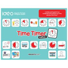 Ideo Magnetic Portable Pictogram System - Time Timer® Edition