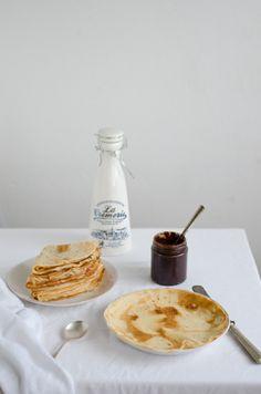 Coco e Baunilha: Crepes de espelta e leite de amêndoa com pasta de ...