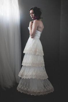 Golden Wheat Wedding Dress Custom Made to Order by hollystalder