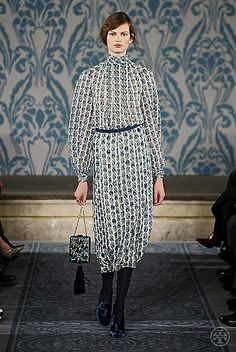 Tory Burch Fall 2013 #ToryFall13  printed dresses, so modest and proper