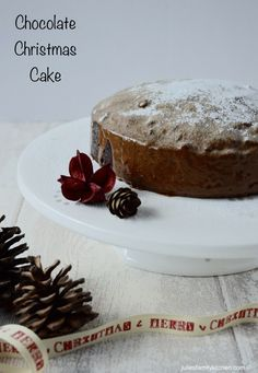 Chocolate Christmas Cake.  If you are looking for a non traditional Christmas cake then this recipe is for you.
