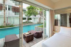 Directly to pool view at The Akmani Legian - Bali