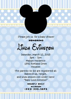 Blue one! Mickey Mouse Inspired Printable Baby Shower by itsybitsyprints, $14.50