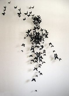 Proximity: The butterflies are scattered around unequally with some cluttered together and others further away from each other. Thus showing proximity. With proximity, the butterflies creates a beautiful shape of what resembles a human.