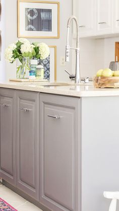 an honest review of milk paint. how my painted cabinets are holding up.