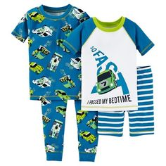 Toddler Boys' Snug Fit Cotton 4-Piece Pajama Set - Just One You™ Made by Carter's® : Target