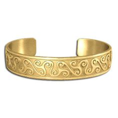 14K Yellow Gold Celtic Boann's Triskets Celtic Bracelet. Made in USA. Metal Arts Group. $6472.00