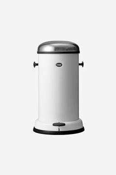 Pedal bin in white by Vipp | vipp.com @vipp