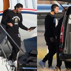 """""""I keep getting tagged in these pics so I'll go ahead and repost. Lol.  Drake getting off a plane. And into a car.  Reportedly this was him landing in…"""""""