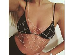 $35.00 Gold Grid Body Chain by MukoShop on Etsy