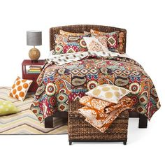 Makayla Reversible Global Print Quilt Set 3 Piece - Mudhut™ : Target
