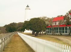 Ocracoke lighthouse.. shinning beacon to the ocean..  awe the history it holds.