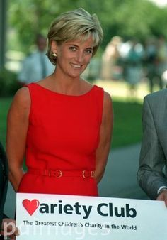 PA Photo 21/7/97  The Princess of Wales during her visit to Northwick Park Hospital near Harrow, North West London where she unveiled a foundation stone for a new children's casualty centre