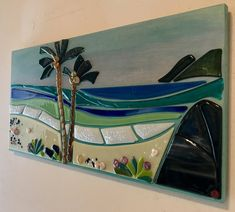 Items similar to Rainbow Glass Art by Shelly Batha Big Island Hawaii on Etsy Broken Glass Art, Sea Glass Art, Glass Wall Art, Stained Glass Art, Fused Glass, Glass Beach, Tiffany Glass, Big Island Hawaii, Smash Glass