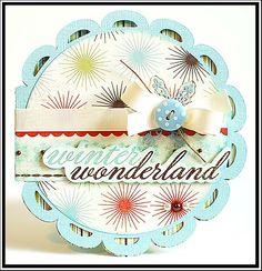 card using Cricut Wild Card Cartridge from Lea's Cupcakes & Sunshine blog.