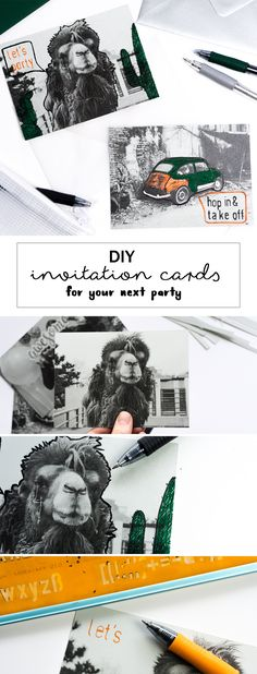 Time to party: DIY Einladungskarten Diy Foto, Creative Crafts, Diy Party, Diys, Paper Crafts, Crafty, Inspiration, Photos, Paper