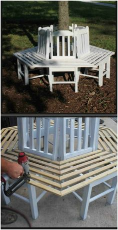 DIY garden projects: 14 outdoor bank ideas that you can build yourself # build .> 25 + - DIY garden projects: 14 outdoor bank ideas that you can build yourself # build … - Garden Furniture Design, Diy Outdoor Furniture, Furniture Projects, Diy Furniture, Outdoor Decor, Outdoor Benches, Rustic Furniture, Garden Design, Antique Furniture