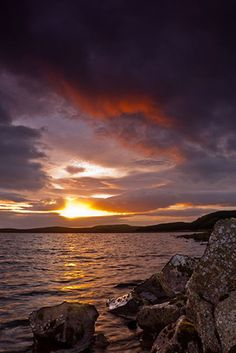 Sun set over Loch Glow (Mike Dodds)