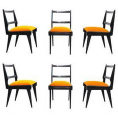 Beautiful Set of 6 Dining Chairs by Eugenio Escudero(Gio Ponti/Carlo ...
