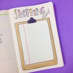 This is a page I got inspired by the lovely @glamazingsarah She talked about it in one of her bullet journal videos. Basically it's a reusable page where you can stick your shopping list (either in post-it notes or by sticking the list with washi-tape) and you just grab it when it's time to go shopping. Genius!!!