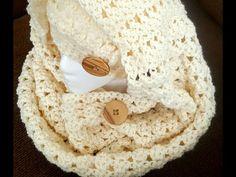 Bufanda o chalina tejida a crochet paso a paso - YouTube
