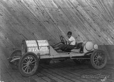 The Staver automobile was made in Chicago by the Staver Carriage Company from 1907 through 1914. This photo was taken at the Riverview Park in Chicago in 1911. http://www.ancientfaces.com/photo/harry-l-curran/1011316