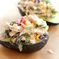 Stuffed avocados - w/ chicken or crab salad