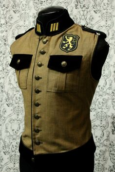 "ROYAL MARINE VEST - STEAMPUNK ""ANTIQUE"" DENIM - This looks like something I would put with a skirt & burn out shirt."