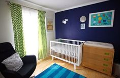 Color Trends | Decorating with Navy Blue - Drapery Street | Navy and Lime