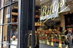 Betty's cafe in Yorkshire. Started 90 years ago, by a young Swiss orphan who trained in baking and confectionery in Switzerland and France before travelling to England named Frederick Belmont