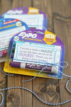 Teachers make a huge difference in the lives of children. Don't forget to show them a little love with this adorable marker teacher appreciation gift idea.