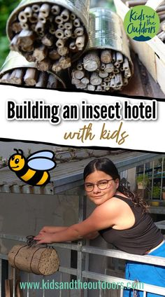 Building an insect hotel with kids is an amazing activity that teaches them a lot about nature. We have tried three simple models for building an insect hotel with kids and share our experiences with you #insecthotel #beehotel #insecthotelwithkids #craftswithkids Projects For Kids, Crafts For Kids, Craft Projects, Insect Hotel, Best Blogs, Outdoor Play, Insects, Building, Crafting