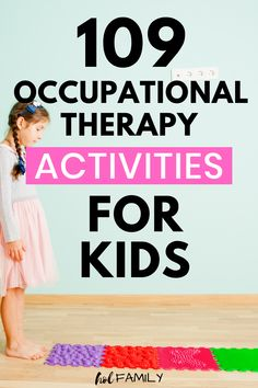 109 Occupational Therapy Activities for Kids Calming Activities, Sensory Activities, Activities For Kids, Sensory Play, Occupational Therapy Activities, Sensory Therapy, Self Help Skills, Autism Parenting, Parenting Advice
