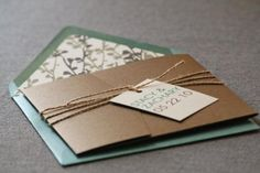Modern Floral Silhouette Wedding Invitation Shown In Green, Brown, And Cream, Build-Your-Invite Collection - DEPOSIT