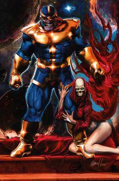 Thanos & Death by Greg Horn