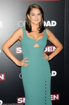 Stunner:Shailene Woodley pulled out all the stops for the premiere of…