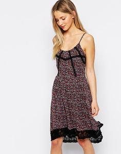 Vero Moda Floral And Lace Cami Dress