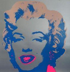 Serigrafia Marilyn grigia Andy Warhol Firma originale dell'artista misure : 91,5 X 91,5 Anno 1984 tecnica : serigrafia su cartoncino edizioni sanday B morning 250 esemplari doppia firma del maestro