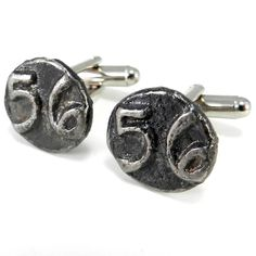 Compass Rose Mens Vintage Western Pacific Railroad Cuff Links Silver Plated