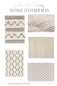 Caroline's Five Finds Neutral Textured Rugs. Looking for a rug that will go well with most decor? Check out my picks for best neutral textured rugs! Interior Decorating Tips, Interior Design Tips, Getting Ready To Move, Rug Texture, Engineered Wood Floors, House Design Photos, Home Decor Inspiration, Decor Ideas, Striped Rug