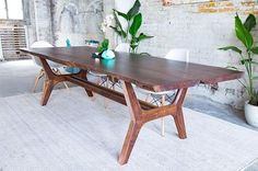 One more pic! #moderncre8ve #diningtable #liveedge #modernfurniture #walnut #claro #midcentury #modern #custommade #etsy