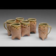 Ceramic Mug, handmade, Handmade ceramic mug, chayatileworks mug, green and brown mug, MADE TO ORDER.