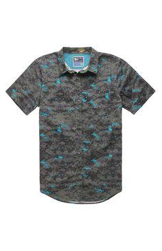 Modern Amusement Digital Camo Short Sleeve Woven Shirt