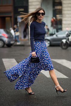 Stella McCartney maxi skirt #PFW #StreetStyle