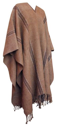 Llama Wool Poncho from Bolivia, this unique poncho is handmade in Potosi. Its just available in natural colors. Alpaca Poncho, Cashmere Poncho, Wool Poncho, Poncho Sweater, Cashmere Wool, Poncho Lana, Mens Poncho, Ladies Poncho, Knitted Capelet