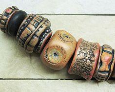 earthy polymer clay bead - Google Search