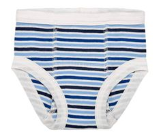 Organic Training Pants for Babies & Toddlers - Blueberry Stripes -These training pants are soft and easy for your toddler to pull on. The bold blueberry stripes will strengthen your little one's confidence as they transition from diaper to potty.  Size: 12-24m fits 20-28lbs and 2-4yrs fits 26-36lbs.  Made with the finest 100% organic Egyptian cotton Solne Eco Department Store