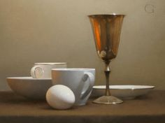 """""""Silver Cup"""" oil/panel by David Gray"""
